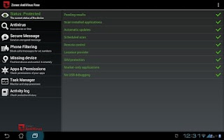 Screenshot of Zoner AntiVirus Free - Tablet