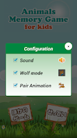 Screenshot of Animals Memory Game