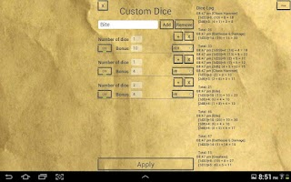 Screenshot of D&D Dice by b.freq
