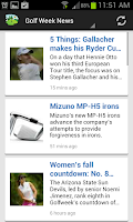 Screenshot of Golfing News Online App