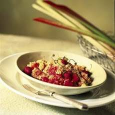 Rhubarb and Strawberry Crisp
