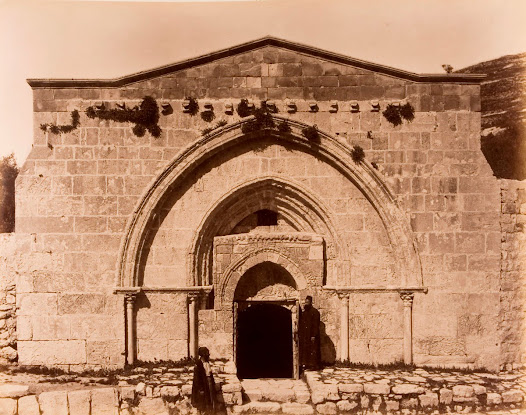 Gate of the Tomb of the Virgin Mary near Jerusalem