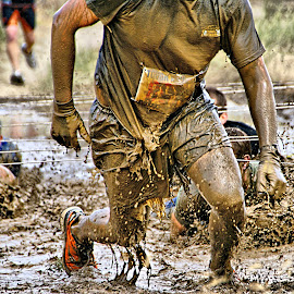 Mud racer by Gaylord Mink - Sports & Fitness Fitness ( mud, racer, legs, man in mud, man,  )