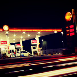by Harsa Ganapati - Digital Art Places ( gas station )