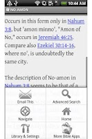Screenshot of Bible Encyclopedia