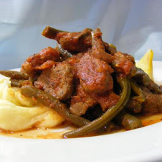 Greek Braised Lamb With Green Beans and Tomato
