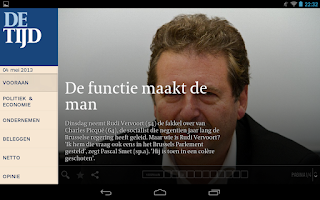 Screenshot of De Tijd