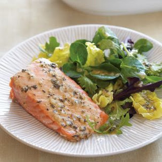 Roasted Salmon with Thyme Vinaigrette