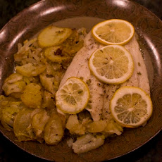 Roasted Halibut With Fennel & Potatoes