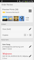Screenshot of Samsung PrinTap: Print Photos