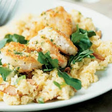 Crunchy Shrimp with Toasted Couscous and Ginger-Orange Sauce