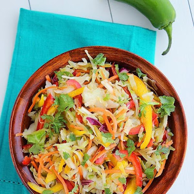 Tangy Tex-Mex Bell Pepper Slaw