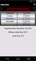 Screenshot of Julian Day Calandar