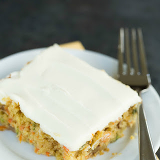 Carrot-Zucchini Bars with Cream Cheese Icing