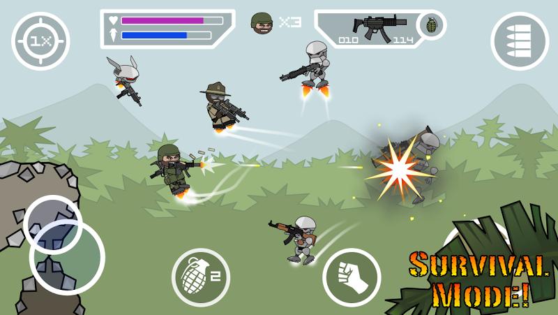 Doodle Army 2 : Mini Militia Screenshot 1