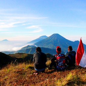 Mounth Prau View by Ngatmow Prawierow - Landscapes Mountains & Hills ( mountain, camping, indonesia, travel, landscape, people, hiking, sindoro )