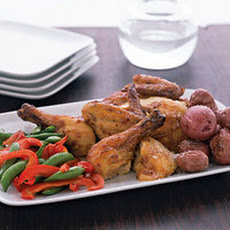 Grilled Cajun Chicken with Crisp Taters