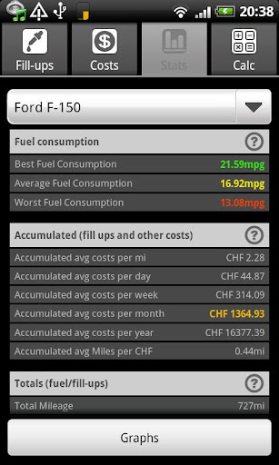 FuelLogPro License Key - screenshot