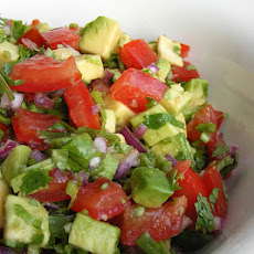 Spicy Avocado and Grape Tomato Salad/Salsa