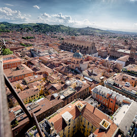 Bologna, Italy by Michael Wiejowski - City,  Street & Park  Historic Districts ( europe, bologna, asinelli, summer, travel, garisenda, italy, torri,  )