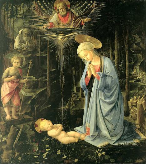Lippi Filippo, Adorazione nella foresta