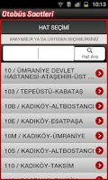 Screenshot of Otobüs Saatleri