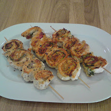 Sake Chicken Skewers