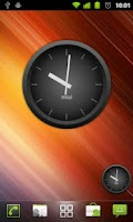 Screenshot of MIUI Dark Analog Clock Widget