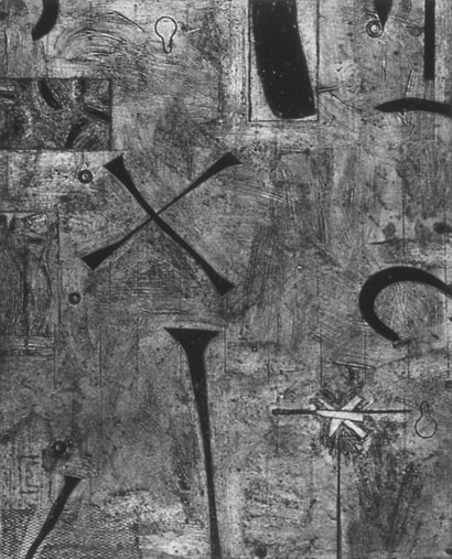 <p> <strong>Map</strong><br /> Collagraph on Stonehenge White<br /> 46&quot; x 36 3/4&quot; paper<br /> 40&quot; x 32&quot; image<br /> Edition: 3<br /> 1992<br /> Private collections, West Vancouver; North Vancouver</p>