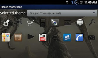 Screenshot of Dragon Go Launcher EX Theme