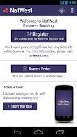Screenshot of NatWest Business Banking