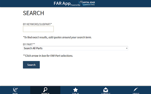 FAR App - screenshot