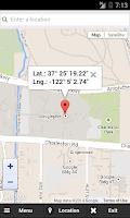 Screenshot of GPS Coordinates Finder