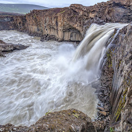 Aldeyjarfoss-1 by Palmi Vilhjalmsson - Landscapes Waterscapes