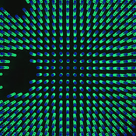 ceilar lights by Louis Heylen - Abstract Light Painting ( interior, blue, green, light, black )