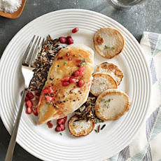Chicken with Turnips and Pomegranate Sauce