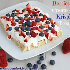 Berries and Cream Rice Krispies Treats