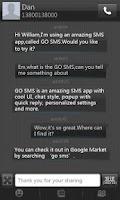 Screenshot of GO SMS Pro Black Texture Theme
