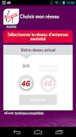 Screenshot of Choix réseau