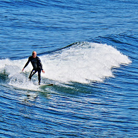 Never Too Old to Surf by Bridgette Rodriguez - Sports & Fitness Other Sports ( surfing, surfer, waves, ocean, surf, serenity, blue, mood, factory, charity, autism, light, awareness, lighting, bulbs, LIUB, april 2nd )