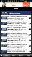 Screenshot of NBC Connecticut Weather