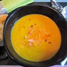 Curried Carrot, Onion And Apple Soup