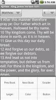 Screenshot of King James Version 1611 Viewer