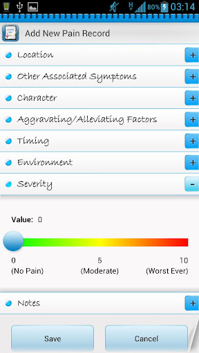 manage-my-pain-lite for android screenshot