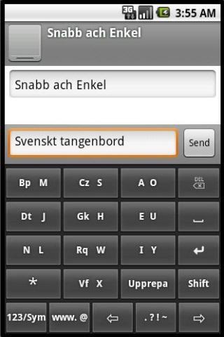 Phonic Keyboard Swedish