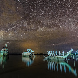 Milky Way by Waily Harem - Landscapes Waterscapes ( astrophoography, starscapes, kuala penyu, milky way )