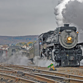 On to Moscow by Jeff Stallard - Transportation Trains ( steam engine, scranton, pennsylvania, staemtown, passenger train, national park service )