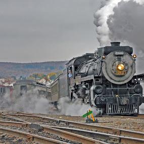 On to Moscow by Jeff Stallard - Transportation Trains ( steam engine, scranton, pennsylvania, staemtown, passenger train, national park service )