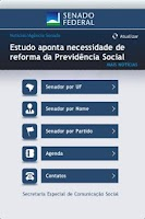 Screenshot of Senado Federal