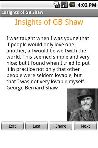【免費娛樂App】George Bernard Shaw Wisdom-APP點子